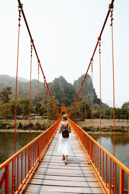 bridge vang vieng laos