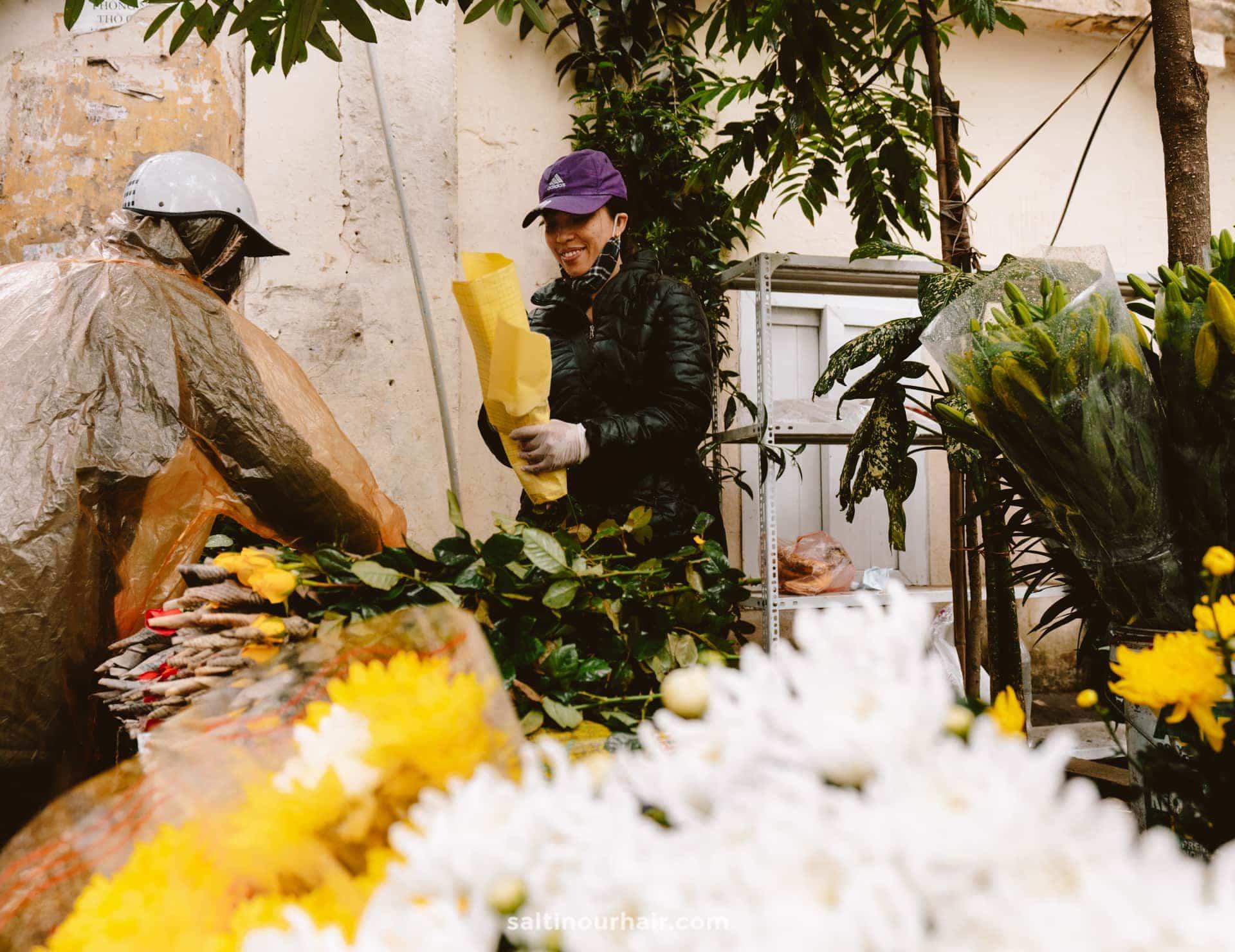 flower market hanoi