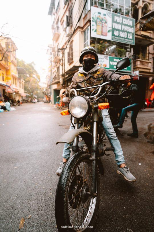 things to do hanoi motorbike tour