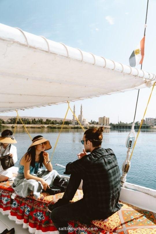 luxor egypt Felucca boat ride
