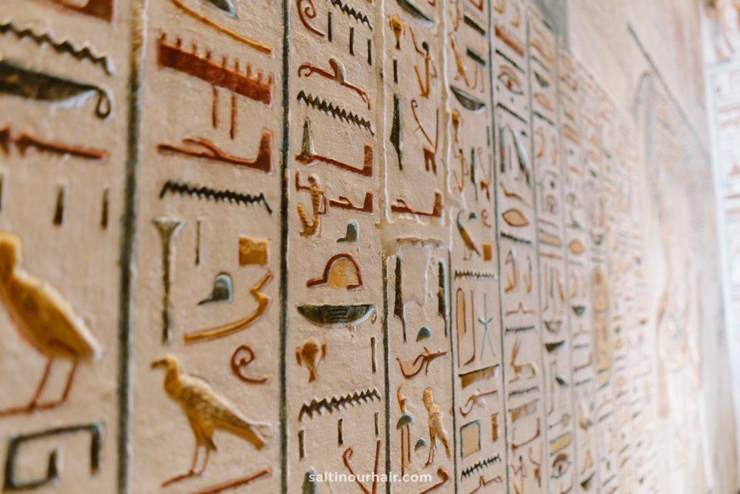luxor egypt hieroglyphs