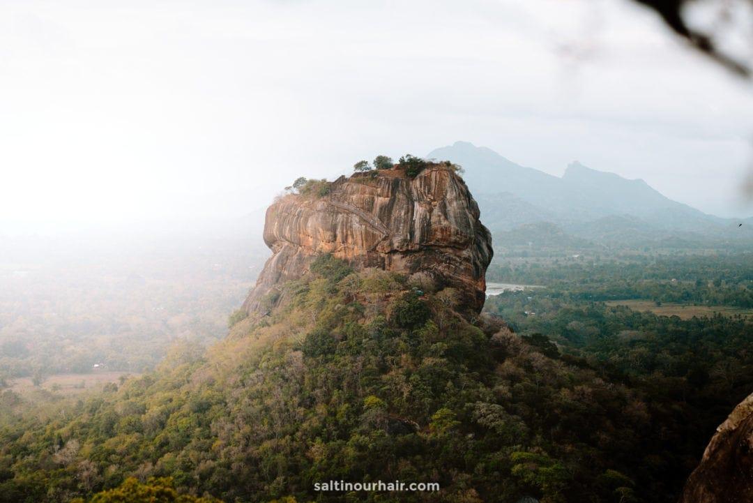 best viewpoint sigiriya rock Pidurangala sri lanka