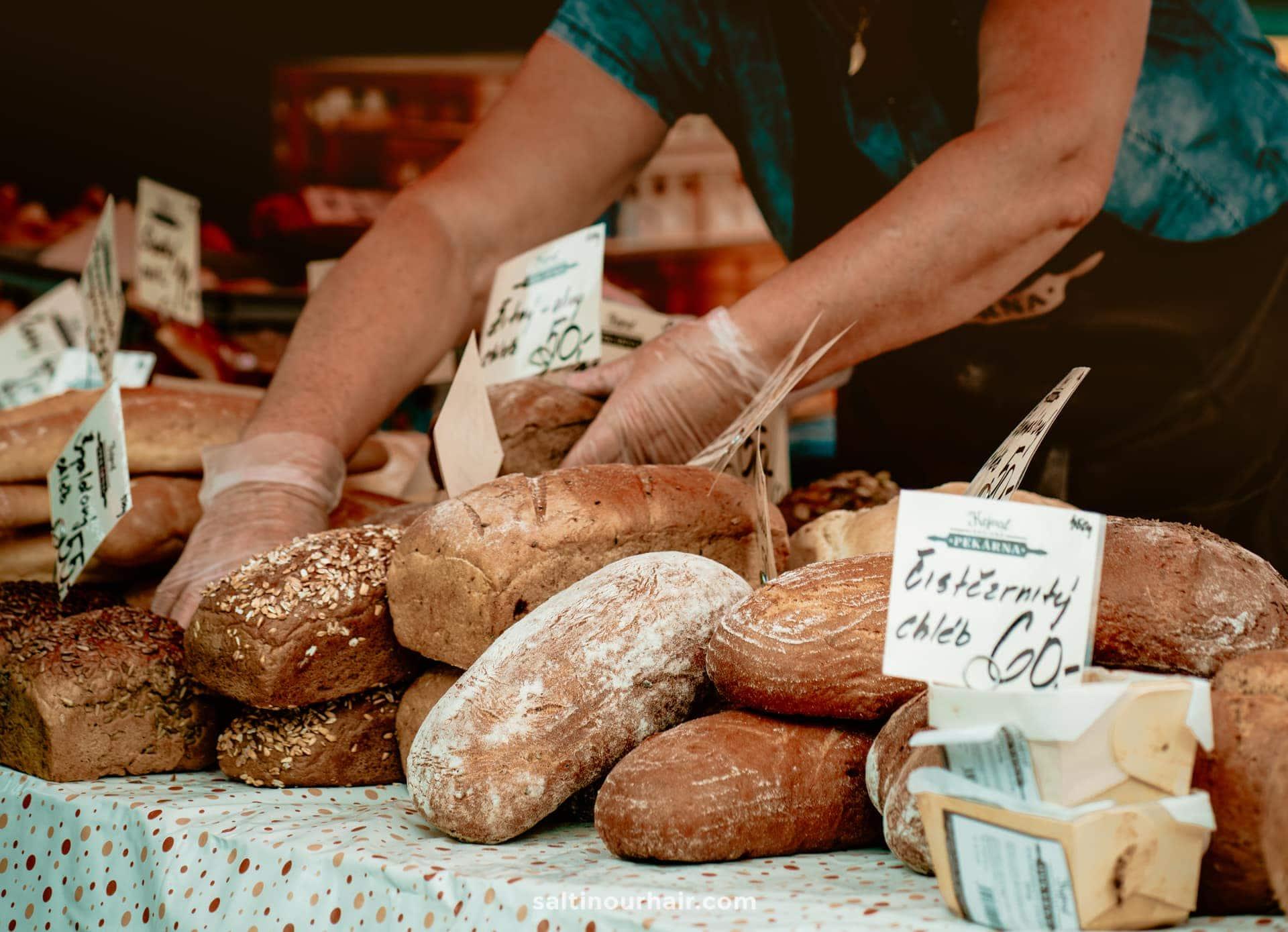 prague farmers market bread