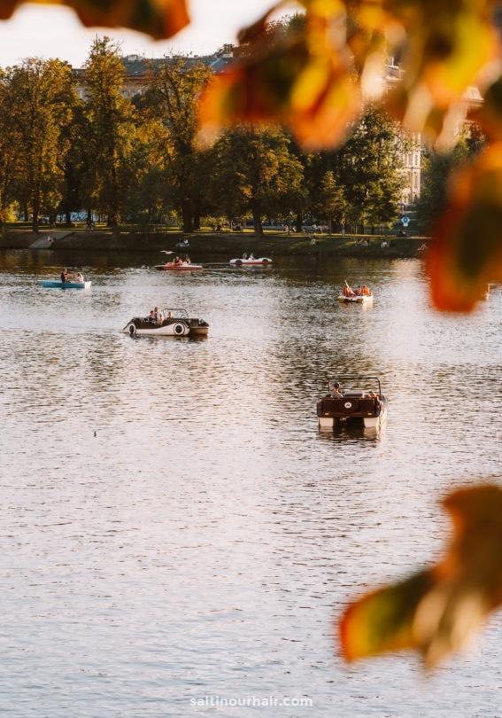 prague River Vltava boat