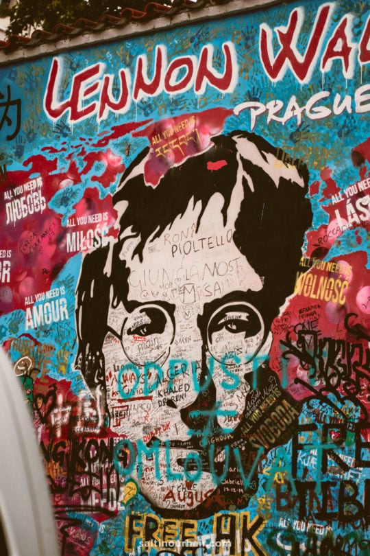 things to do prague lennon wall