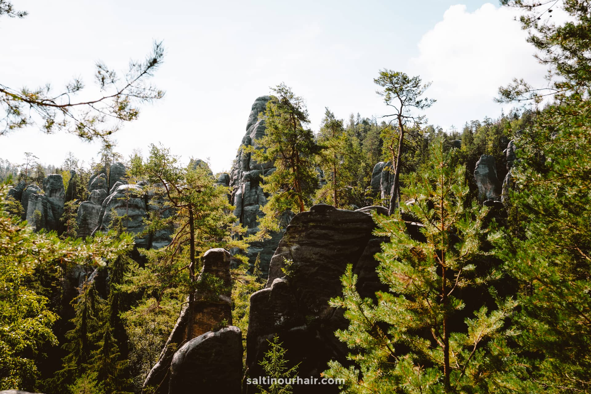 view hike Adrspach Teplice Rocks national park Czech Republic