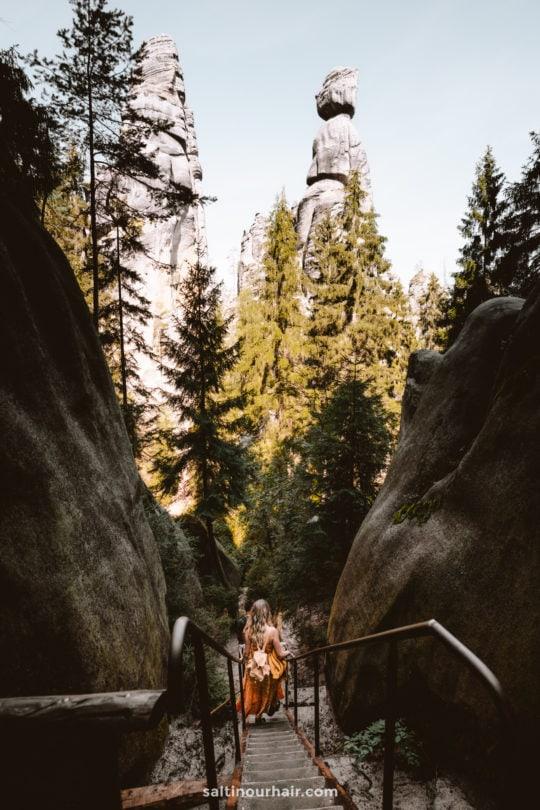 hike Adrspach Teplice Rocks Czech Republic