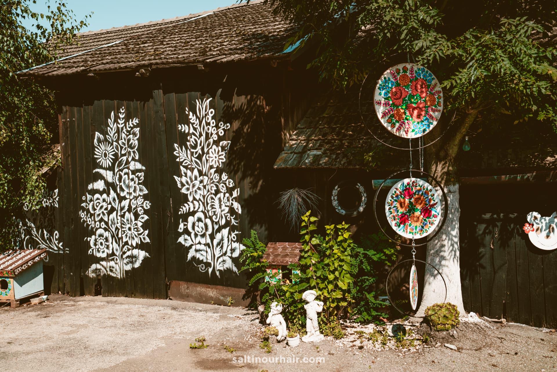 colorful village poland zalipie