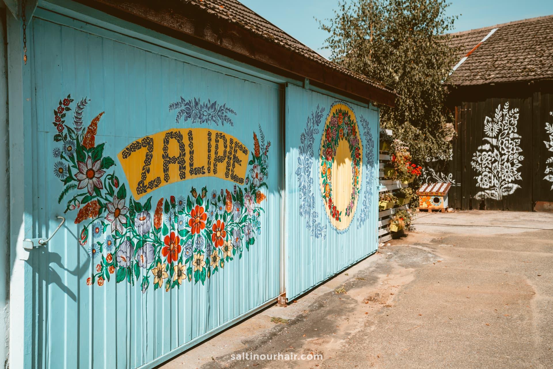 beautiful painted houses zalipie poland