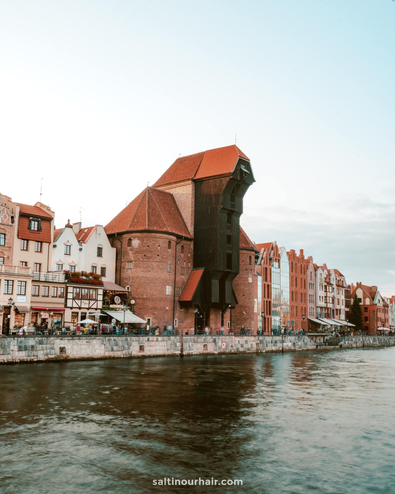 Gdansk poland city trip Crane