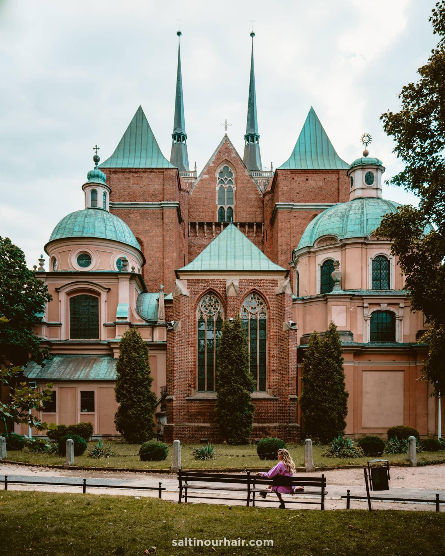 wroclaw poland Cathedral Island Ostrow Tumski