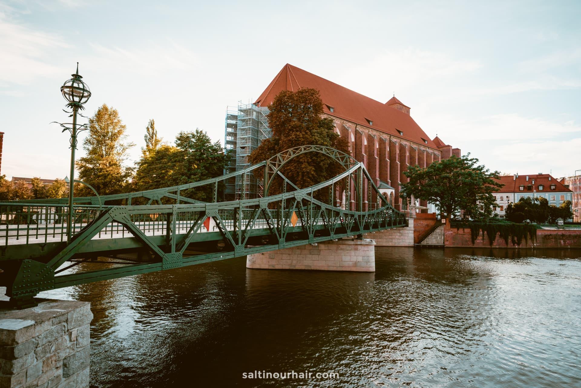 Tumski Bridge wroclaw