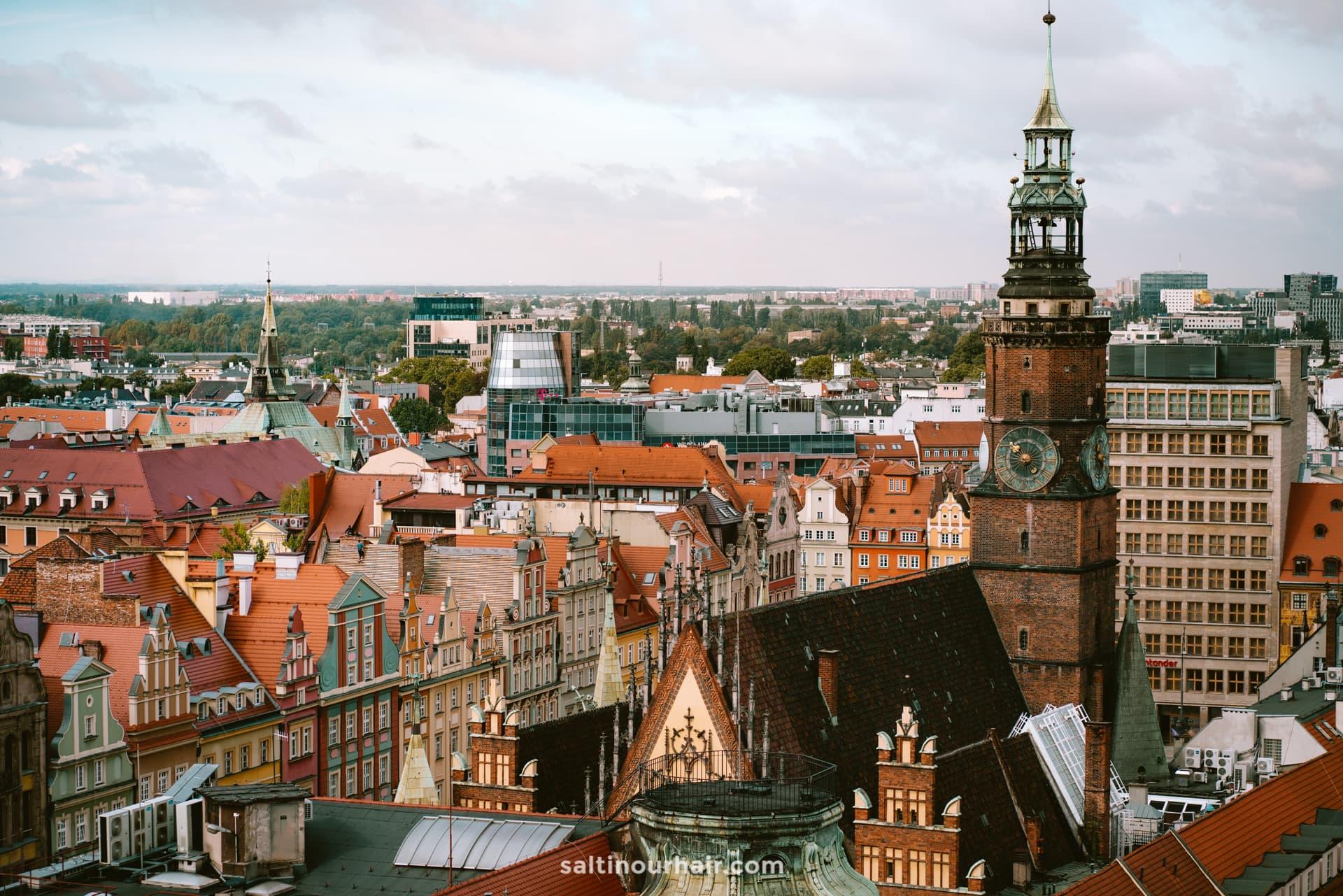 wroclaw city trip best view