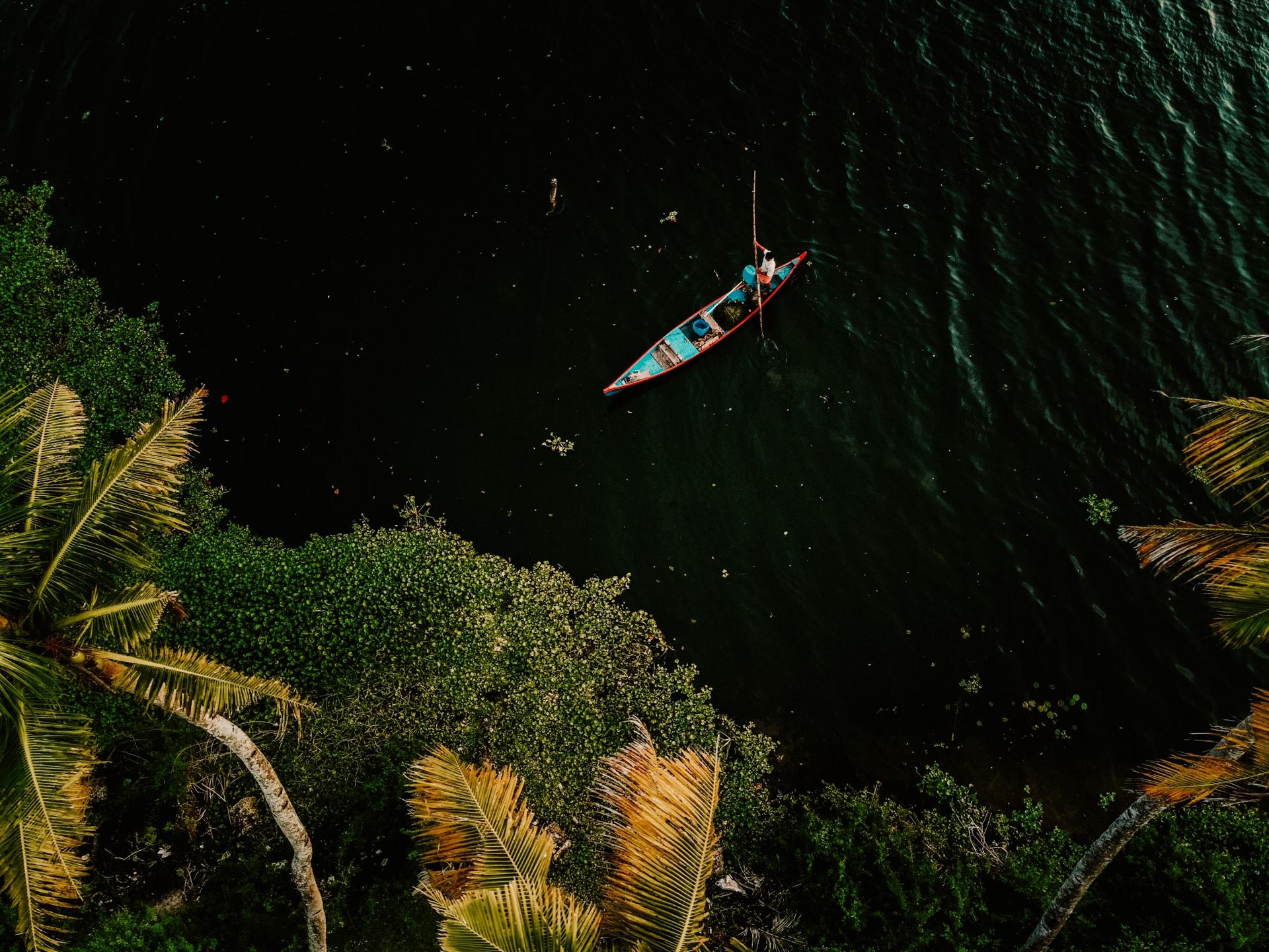 kerala india river boat