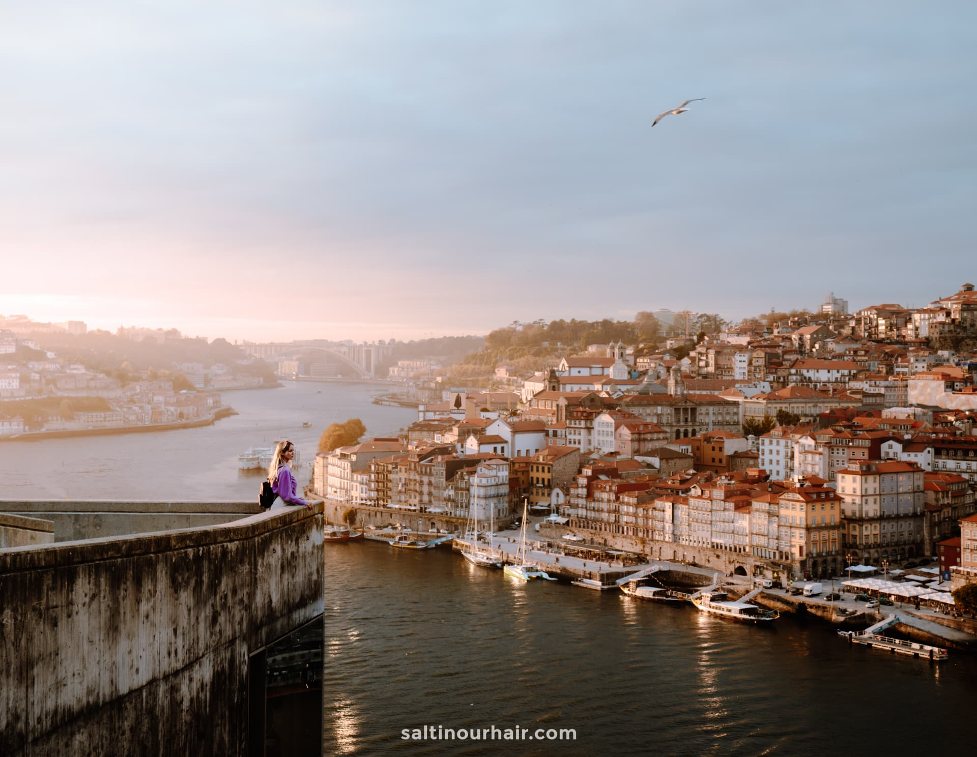 porto portugal city trip sunset viewpoint