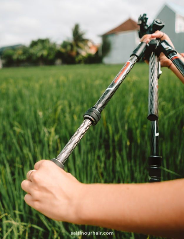 travel photography Salt in our hair tripod