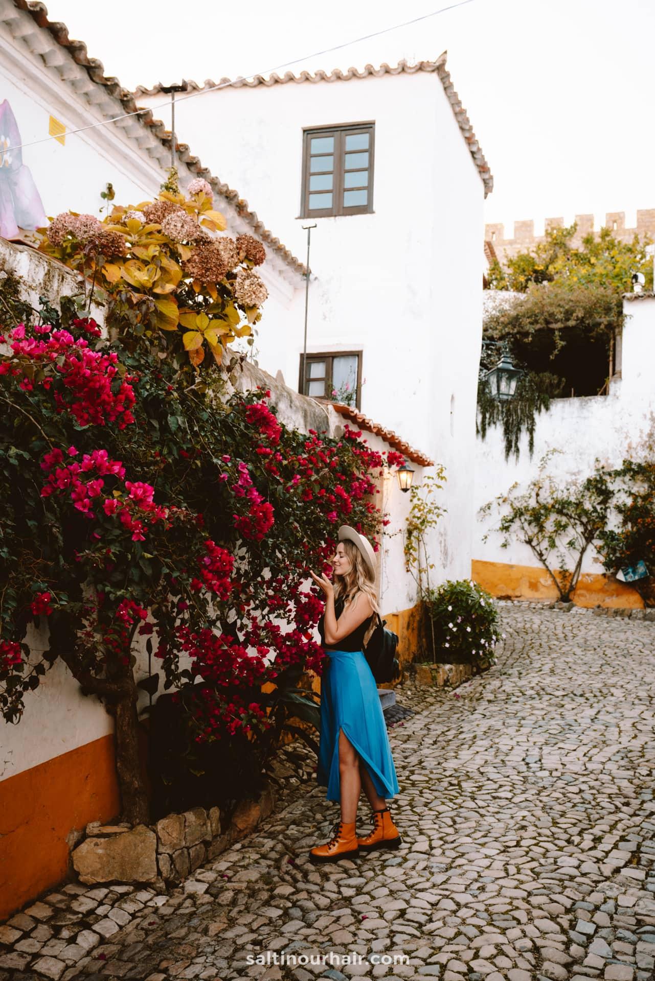 beautiful town obidos portugal