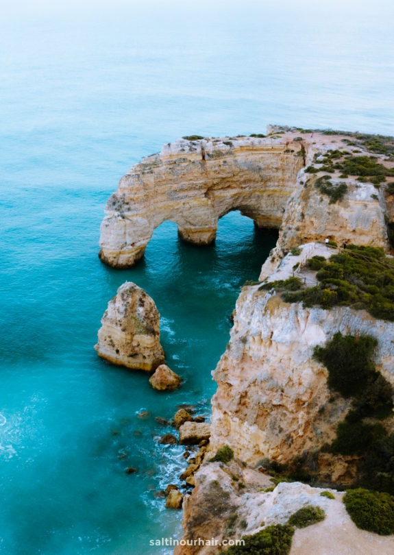 algarve portugal heart shaped rock