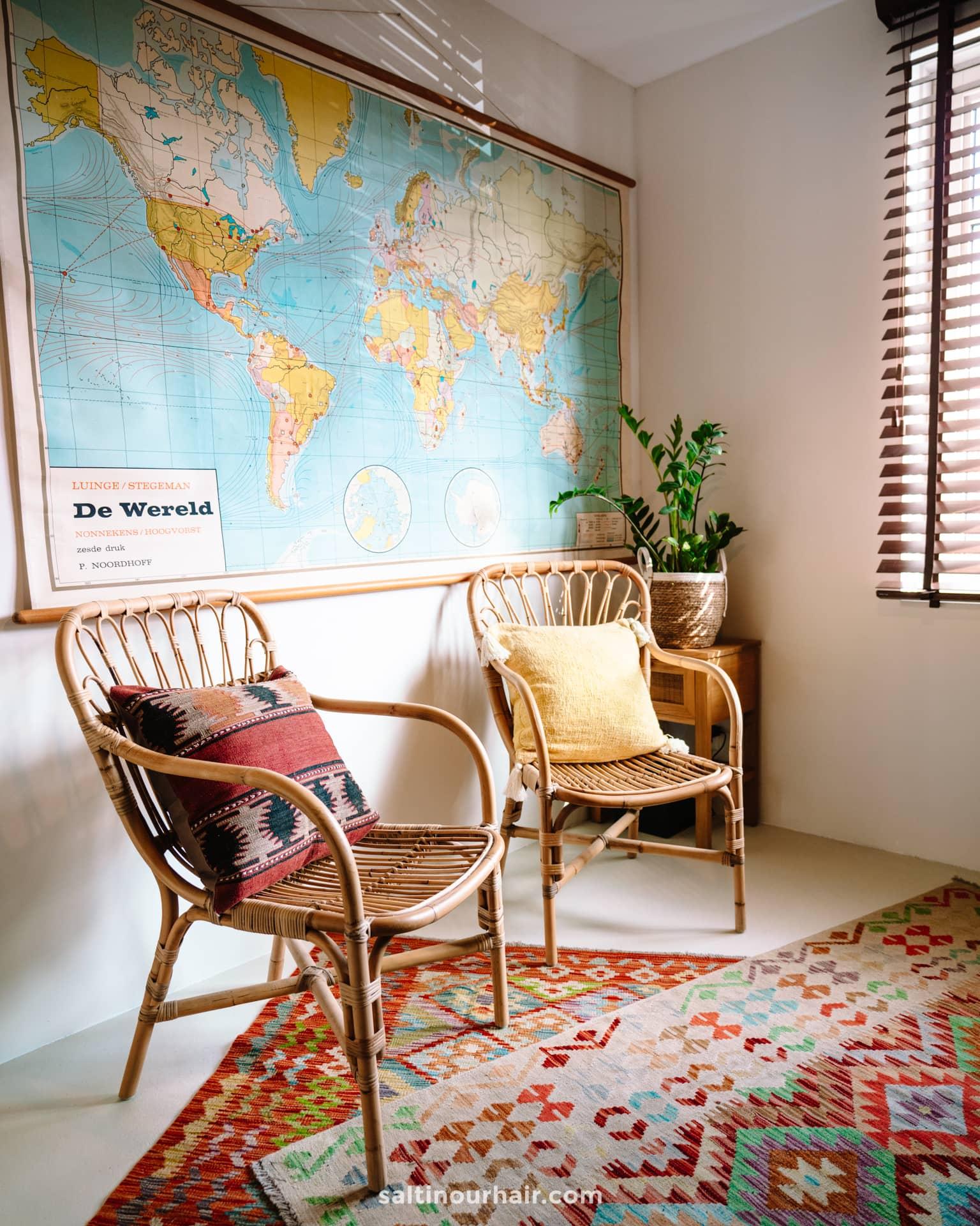 Travel Home Decor vintage world map