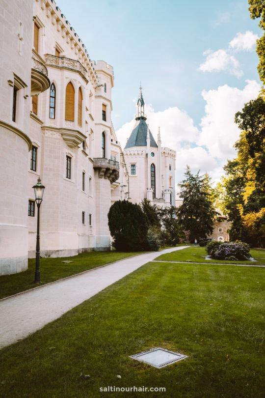 Hluboka Castle garden Czech Republic