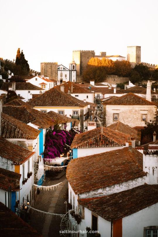 obidos portugal straten