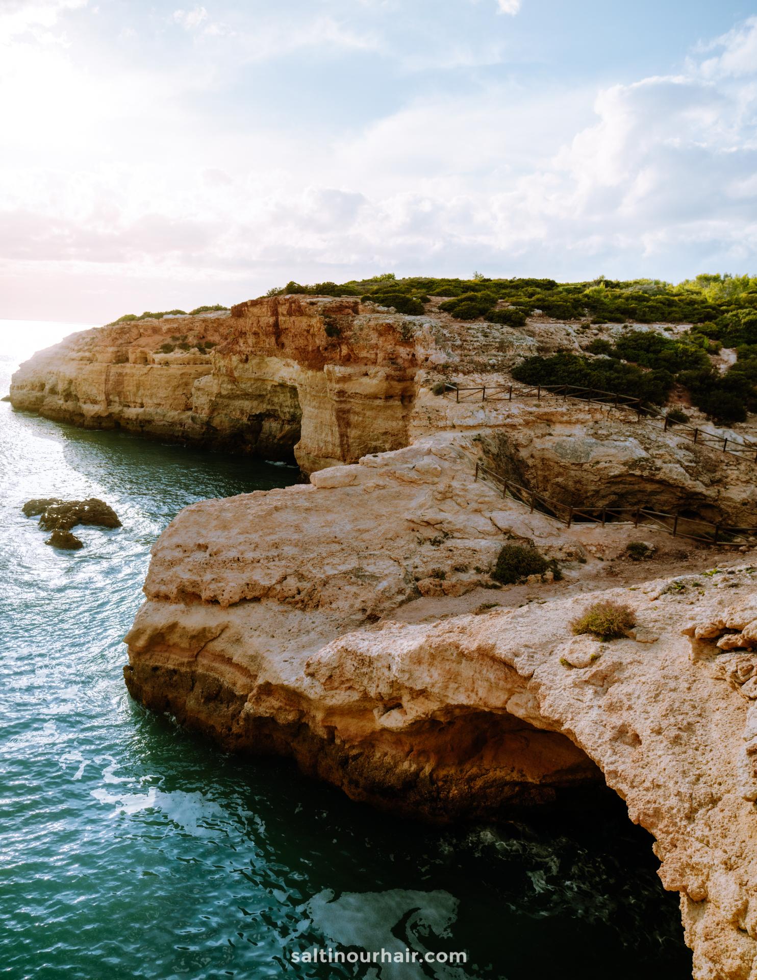 Algarve coastline ferragudo portugal