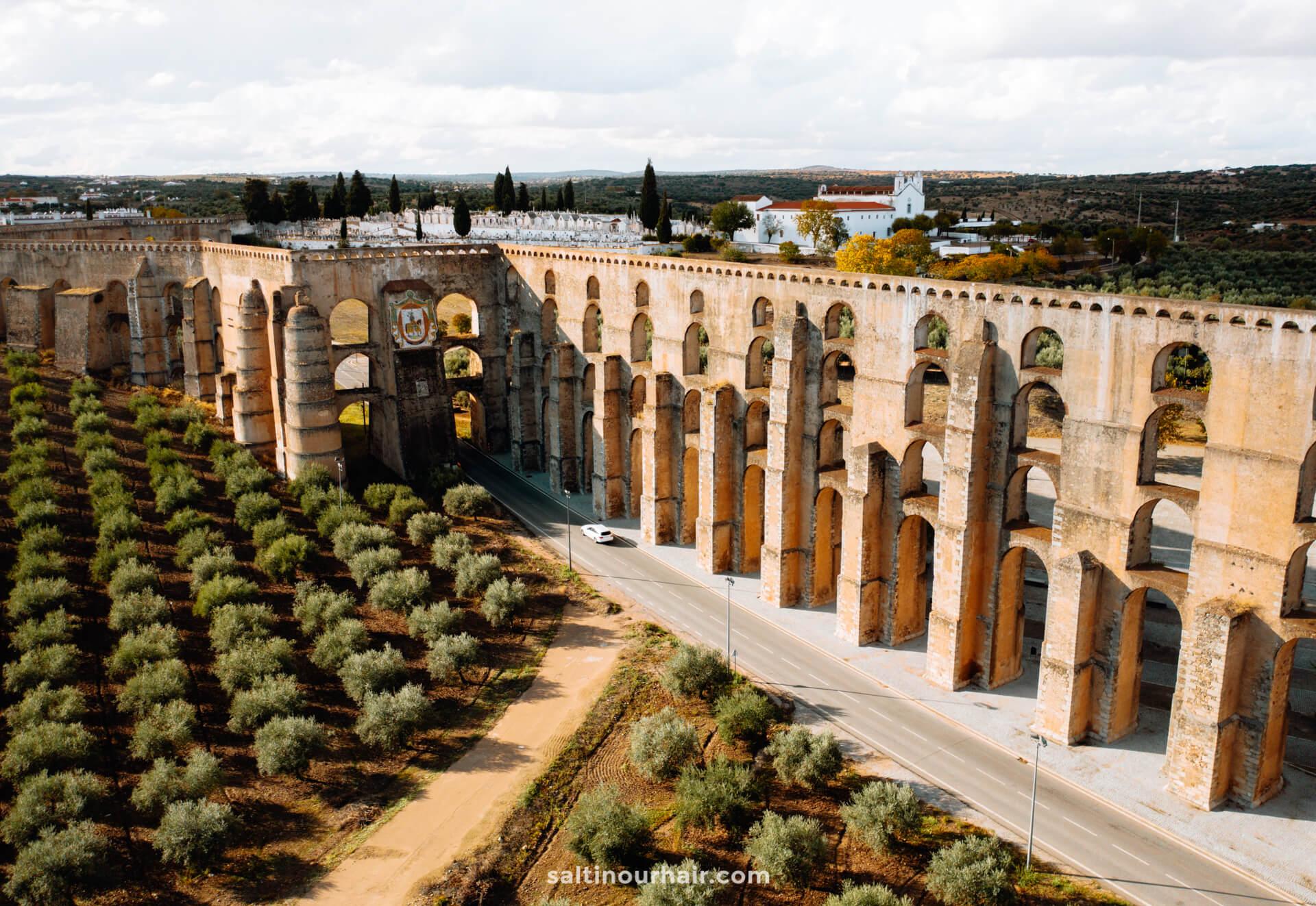 elvas Amoreira Aqueduct
