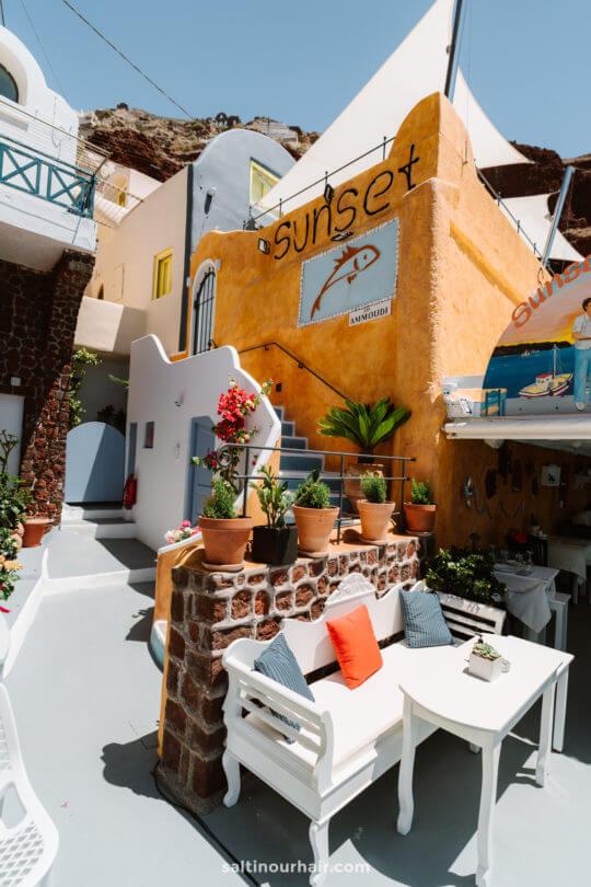 santorini greece ammoudi bay