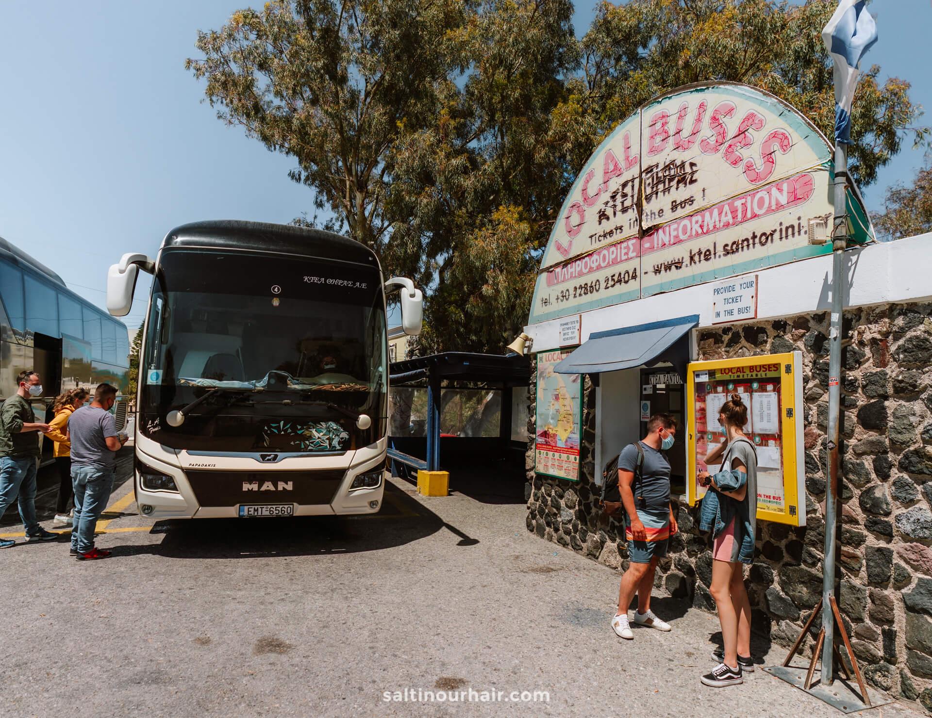 santorini public transport