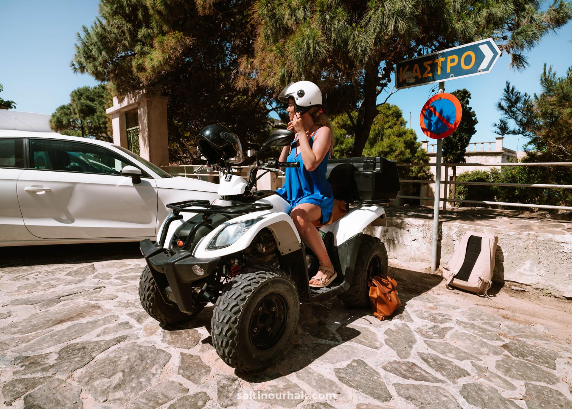 Greek island hopping atv