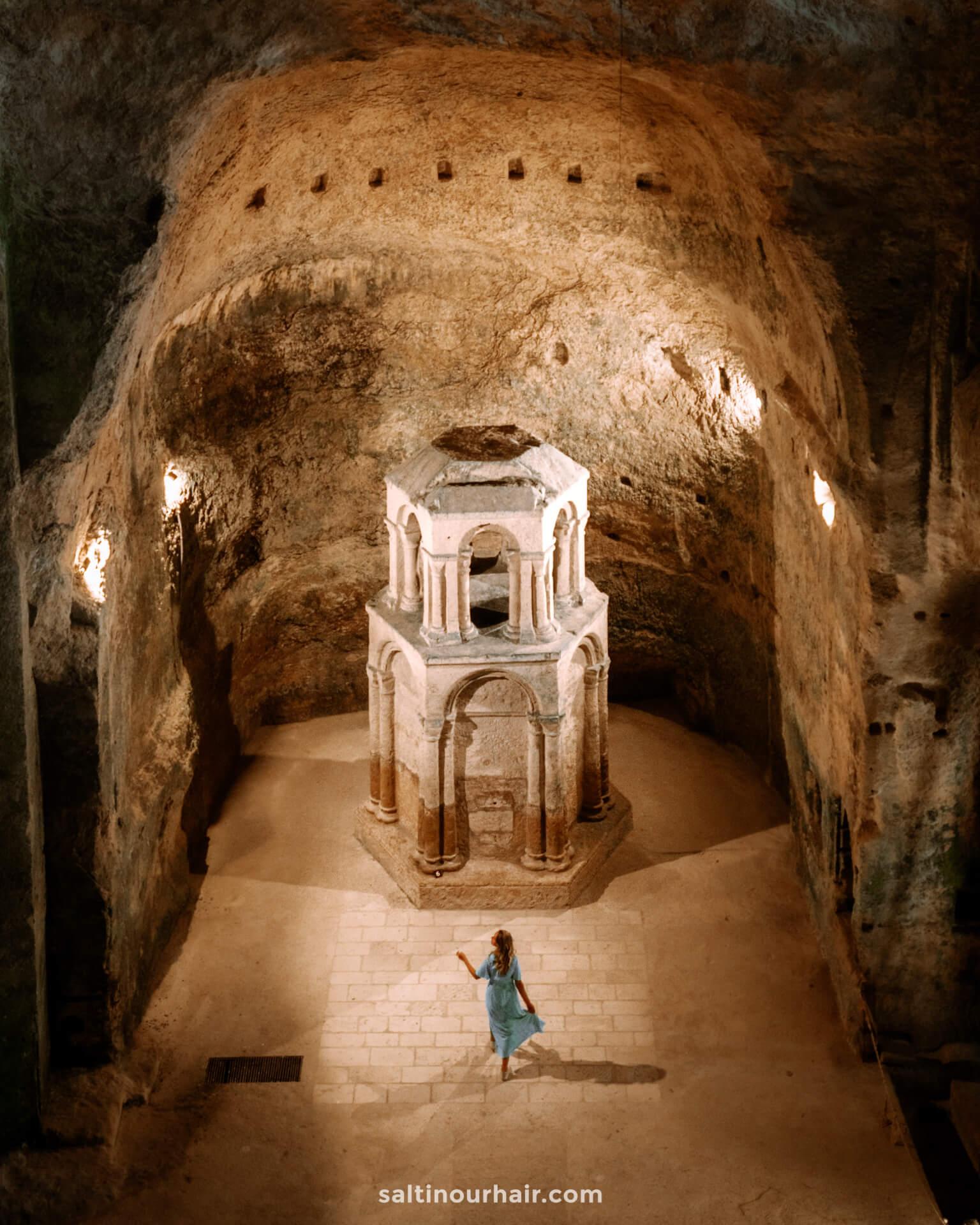 Aubeterre france underground church