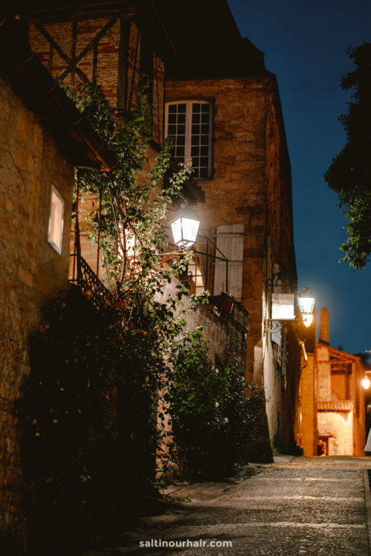 sarlat france by night