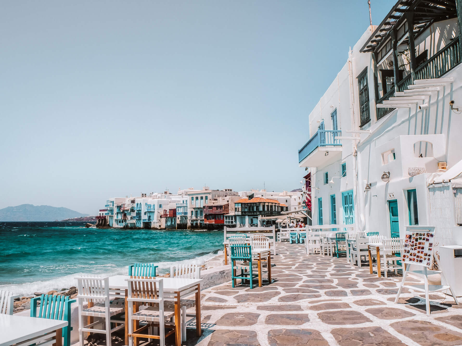 Greek island hopping mykonos