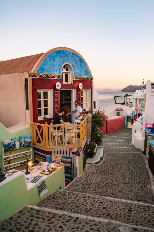 Greek island hopping santorini