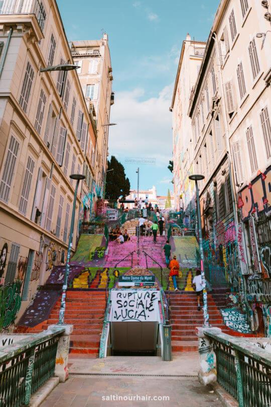 marseille Escaliers du Cours Julien