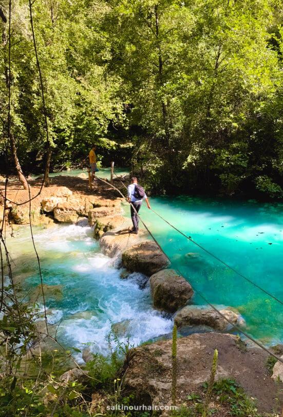 Elsa Trail waterfall tuscany italy